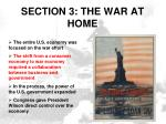 section 3 the war at home