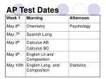 ap test dates