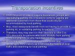 transportation incentives