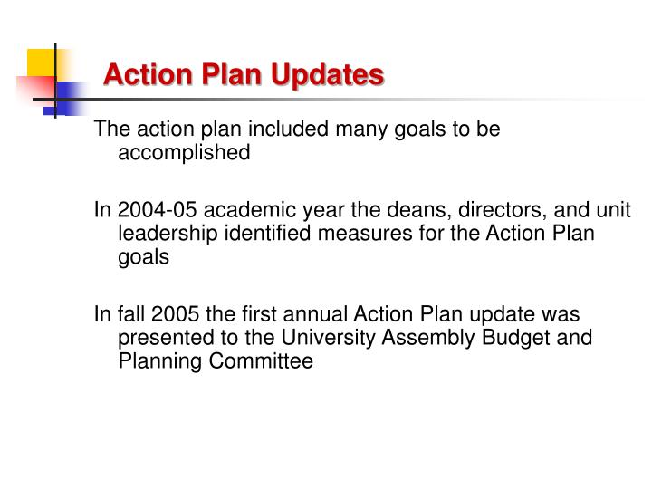 Action plan updates