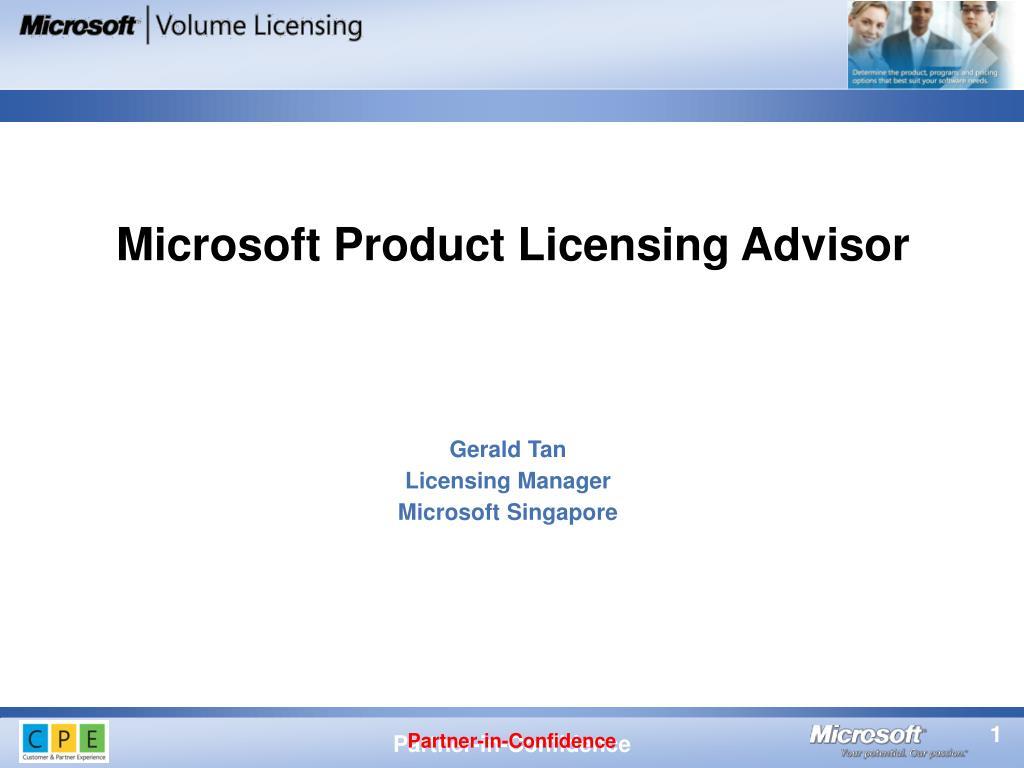 gerald tan licensing manager microsoft singapore