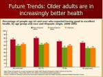 future trends older adults are in increasingly better health