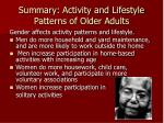 summary activity and lifestyle patterns of older adults2