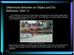 differences between an object and it s reflection part 1