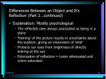 differences between an object and it s reflection part 2 continued