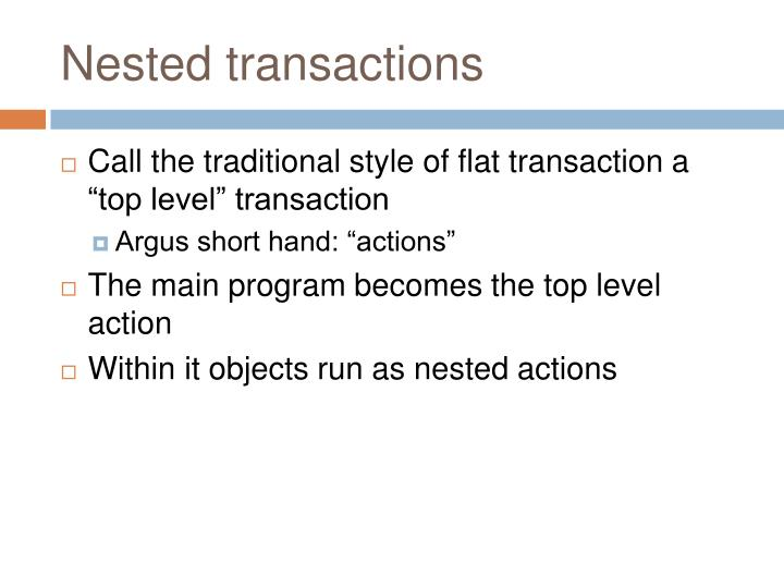 Nested transactions