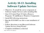 activity 10 13 installing software update services