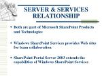 server services relationship