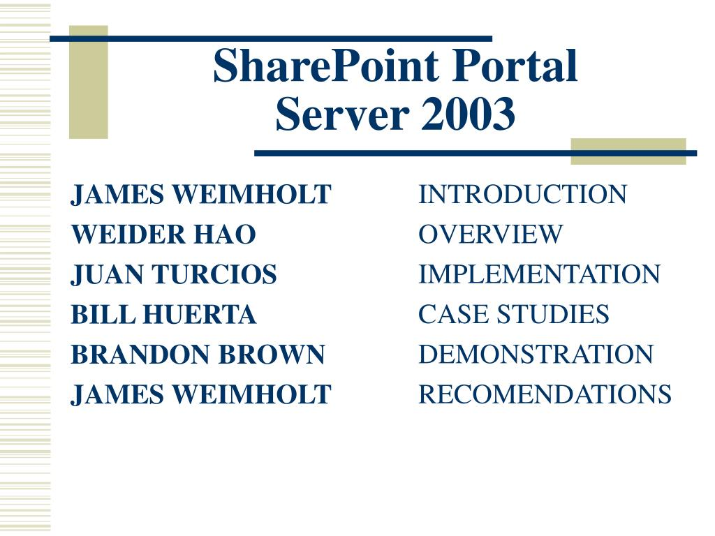 sharepoint portal server 2003 l.