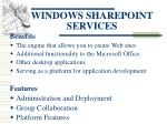 windows sharepoint services