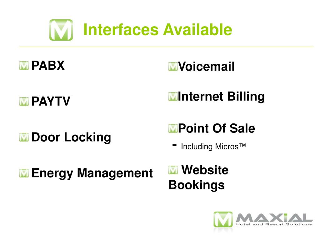 Interfaces Available