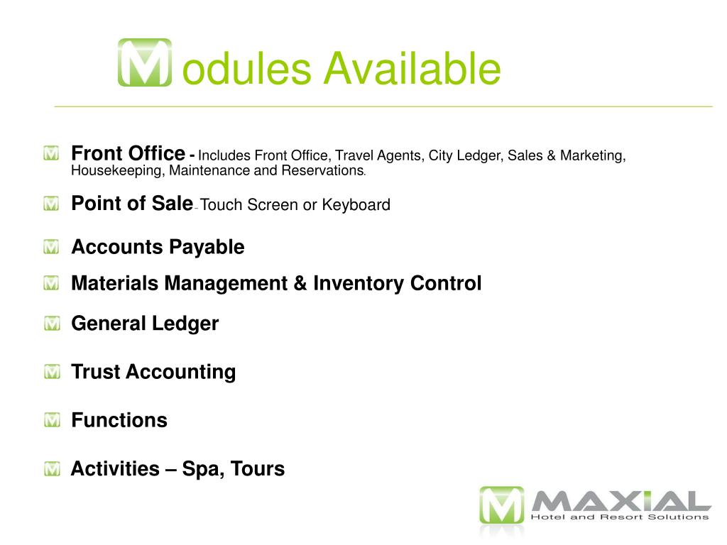 odules Available