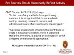 pay sources should reasonably reflect activity