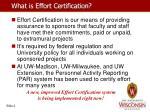 what is effort certification