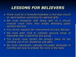 lessons for believers