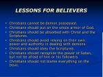 lessons for believers1