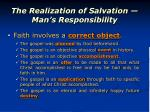 the realization of salvation man s responsibility1