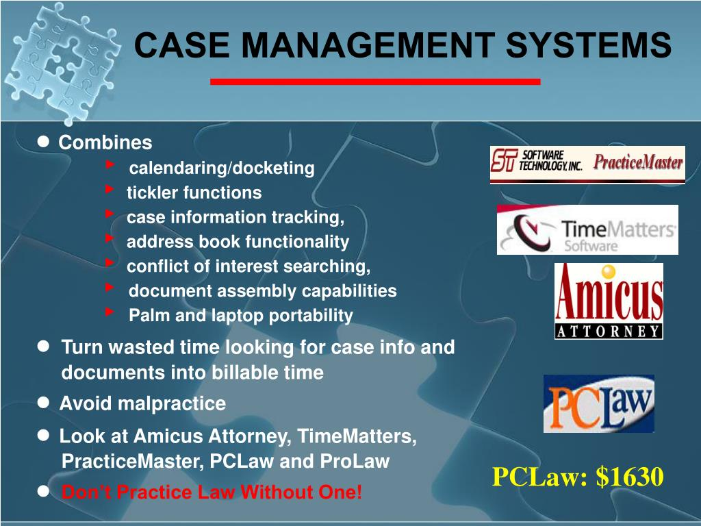 CASE MANAGEMENT SYSTEMS