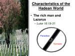 characteristics of the hadean world