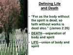 defining life and death