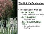 the spirit s destination