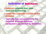 definition of intranet