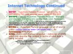 internet technology continued