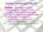 internet technologycontinued