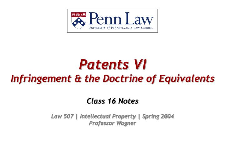 patents vi infringement the doctrine of equivalents n.