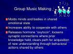group music making