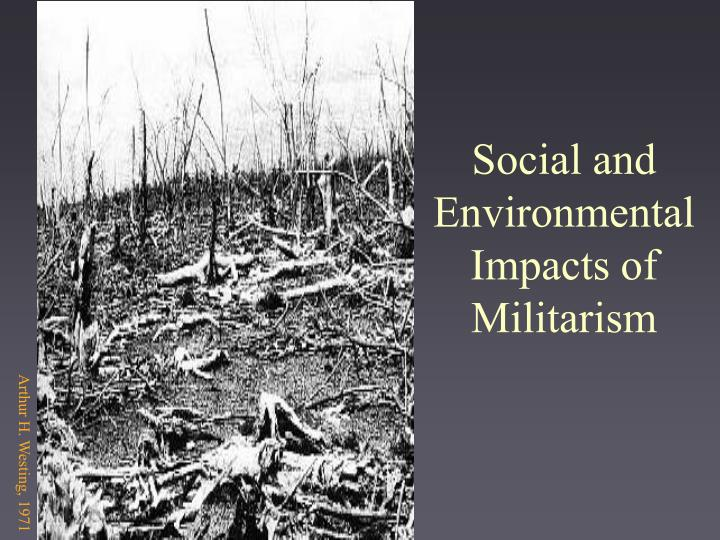 social and environmental impacts of militarism n.
