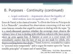 b purposes continuity continued1