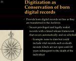 digitization as conservation of born digital records
