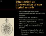 digitization as conservation of non digital records