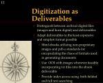 digitization as deliverables