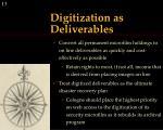 digitization as deliverables1