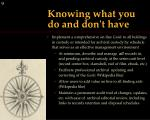 knowing what you do and don t have