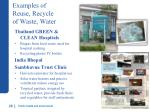examples of reuse recycle of w aste water