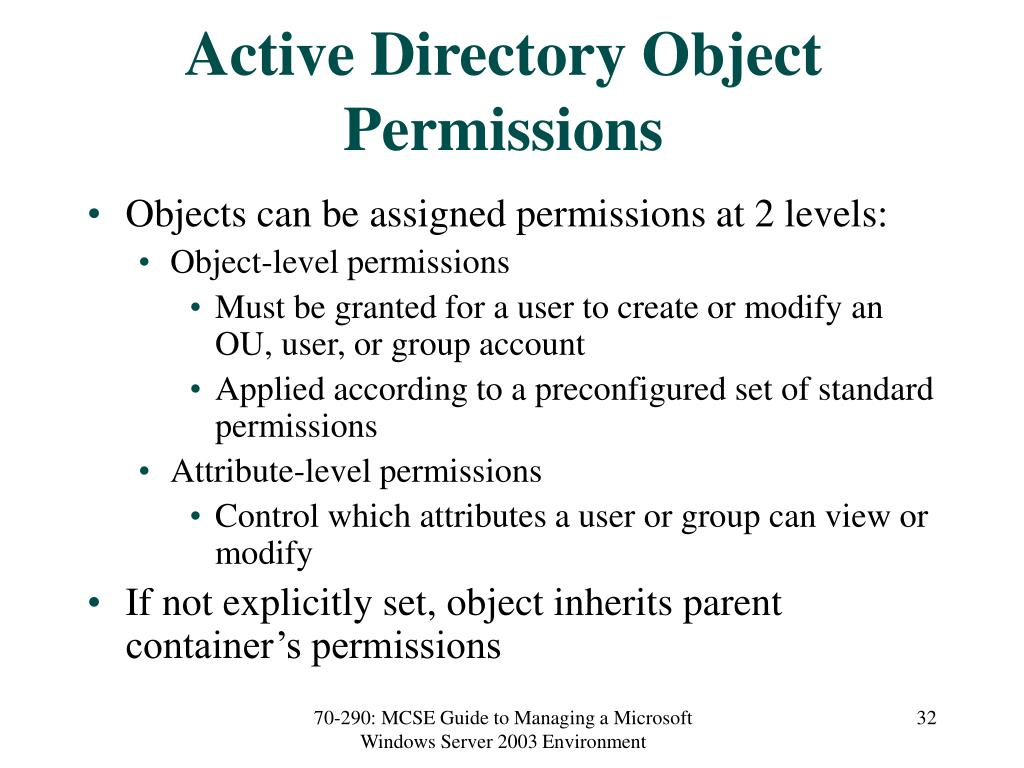 Active Directory Object Permissions