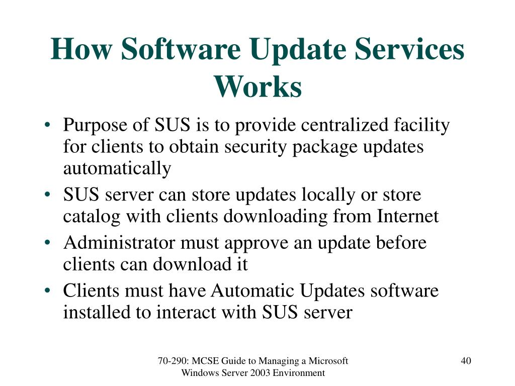 How Software Update Services Works