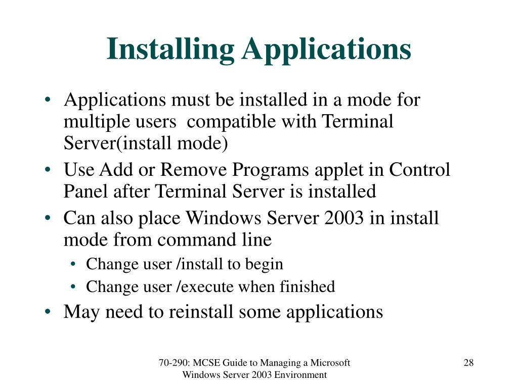 Installing Applications