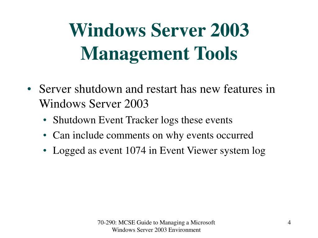 Windows Server 2003 Management Tools