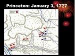 princeton january 3 1777