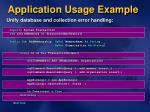 application usage example