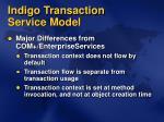 indigo transaction service model