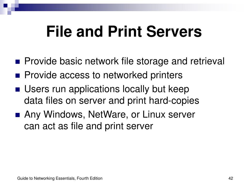 File and Print Servers