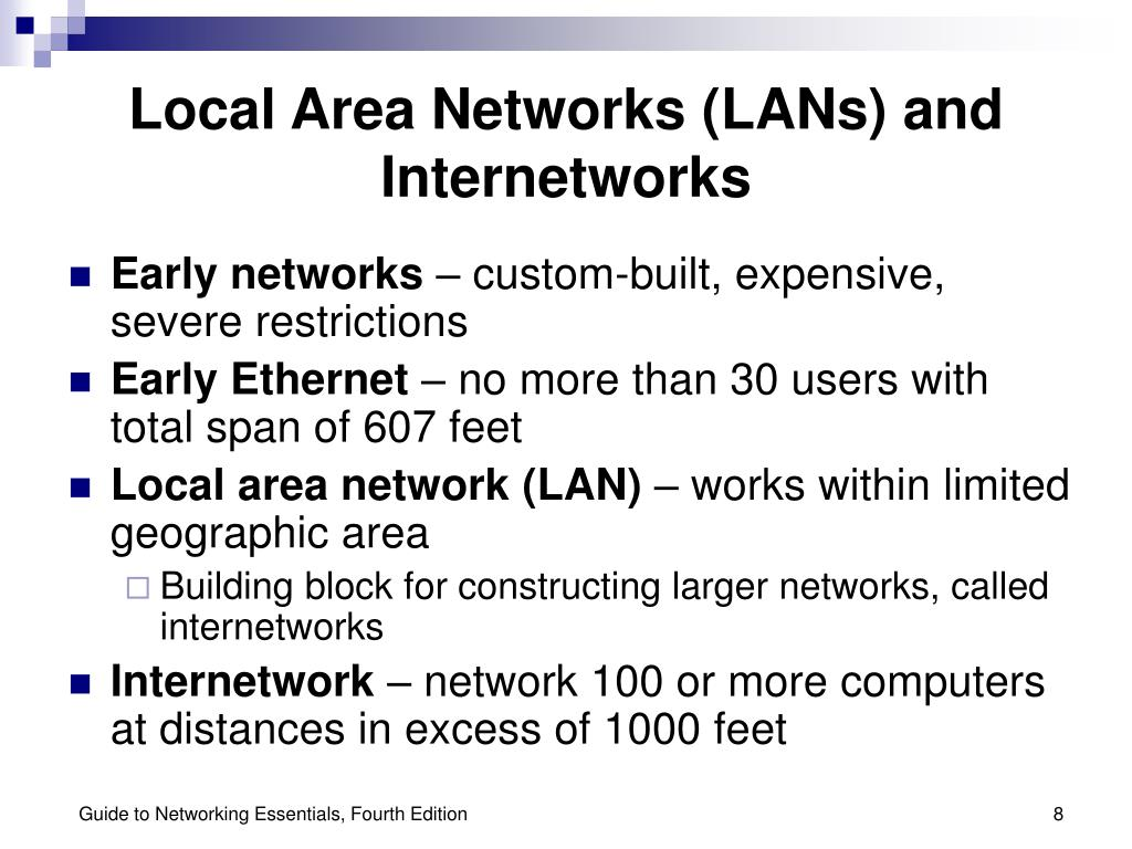 Local Area Networks (LANs) and Internetworks
