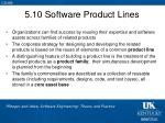 5 10 software product lines