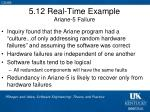 5 12 real time example ariane 5 failure