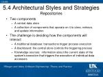 5 4 architectural styles and strategies repositories